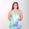 Organic Cotton Lace Yoke Cami Built in Bra - Tie Dye by Blue Lotus Yogawear