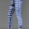 Organic Cotton Bengal Tiger Tie Dye Ankle Length Yoga Legging- Serenity Blue by Blue Lotus Yogawear