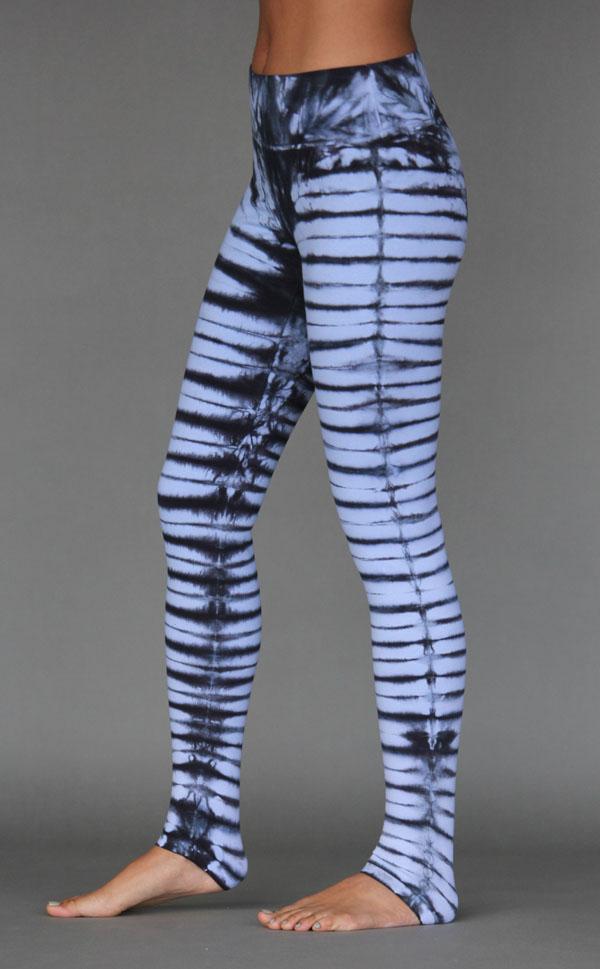 Organic Cotton Bengal Tiger Tie Dye Ankle Length Yoga Legging- Serenity Blue by Blue Lotus Yogawear
