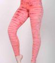 Bengal Tiger Tie Dye Ankle Length Yoga Legging- Coral by Blue Lotus Yogawear