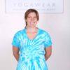 100% Cotton OM Spiral Tie Dye Yoga Tee- Turquoise by Blue Lotus Yogawear