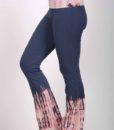 Organic Cotton Foldover Waist Yoga Pant - Indigo Tie Dye by Blue Lotus Yogawear
