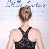 Organic Cotton Lace Back Bra - Navy by Blue Lotus Yogawear