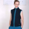 Organic Cotton Heart Zip Vest- Navy by Blue Lotus Yogawear