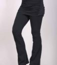 Organic Cotton Skirt Over Flare Leg Yoga Pant - Black
