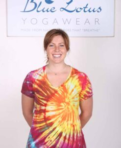 100% Cotton Spiral Tie Dye Yoga Tee- Malibu Sunset by Blue Lotus Yogawear