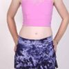 Organic Cotton Mini Skort - Purple Tie Dye by Blue Lotus Yogawear