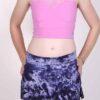 Organic Cotton Mini Skort - Purple Tie Dye by Blue Lotus Yogawear