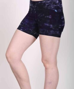 Organic Cotton Short - Purple Tie Dye by Blue Lotus Yogawear
