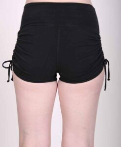 """Brazilian Butt Lift"" Yoga Short- Black Organic Cotton back by Blue Lotus Yogawear"