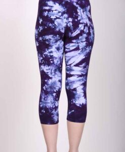 Organic-Cotton-Crop-Yoga-Legging-Deep-Purple-Crystal-Dye-Back-View-by-Blue-Lotus-Yogawear