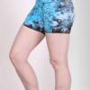 Organic Cotton Short - Turq Tie Dye by Blue Lotus Yogawear