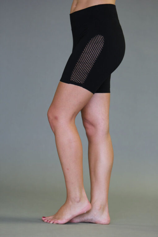 Organic Cotton Mesh Inset Short - Black by Blue Lotus Yogawear