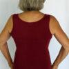 Aura Burst Tie Dye Yoga Tank Top - Wine Back by Blue Lotus Yogawear
