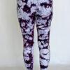 Organic Cotton Ankle Length Yoga Legging- Purple Tie Dye Back by Blue Lotus Yogawear