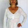 Light Weight Cotton Empire Waist Sweater - Ivory by Blue Lotus Yogawear
