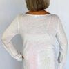 Light Weight Cotton Empire Waist Sweater - Ivory Back view