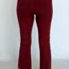 Organic Cotton Mehndi Design Flare Leg Yoga Pant - Wine Back by Blue Lotus Yogawear