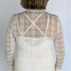 Light Weight Cotton Novelty Plaid Sweater - Ivory Back by Blue Lotus Yogawear