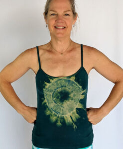 Organic Cotton Aura Burst Cami with Adjustable Straps- Jade by Blue Lotus Yogawear
